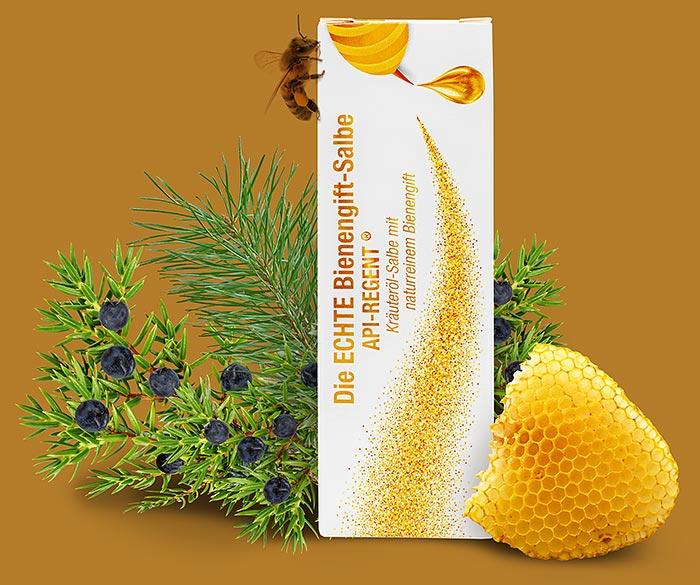 Die ECHTE Bienengift Salbe API-REGENT in der Verpackung